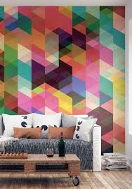 Abstract Wall Mural Decorating Abstract Retro Geomtric Wall Murals 20 Awesome
