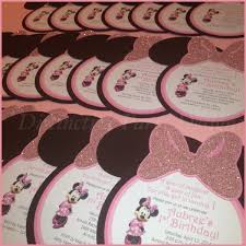 custom made party invitations for minnie mouse inspired birthday