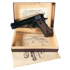 early pre war colt commercial model 1911 pistol complete with