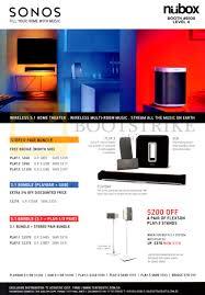 nubox sonos wireless home theatre play 3 sub playbar stereo
