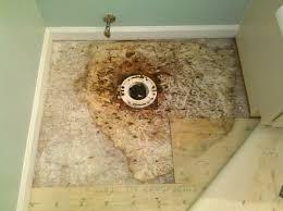 Water Under Bathroom Floor Bathroom Subfloor Repair