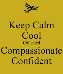 calm cool collected keep calm cool collected compassionate confident poster savannah