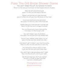 free printable bridal shower left right game pass the gift baby shower game wedding
