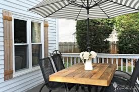 Patio Table Umbrella Cheap Home Decor How To Update An Outdated Outdoor Furniture