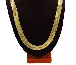 gold tone chain necklace images Mens gold tone 24 quot 11mm herringbone chain necklace jpg