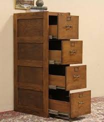 File Cabinet With Drawers Gorgeous Antique Oak File Cabinet Four Drawers All Slide Open
