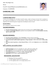 Teacher Sample Resume Sample Resume For Biology Major Resume For Your Job Application