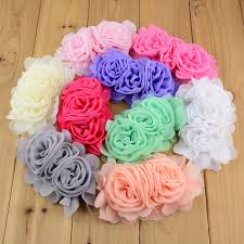 shabby flowers 110pcs lot hair accessory fabric craft flowers artificial
