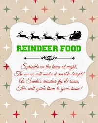 on shelf reindeer reindeer food recipe free printable glued to my crafts