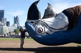 giant dead parrot sculpture installed in london to mark the u0027monty
