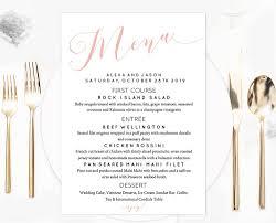 wedding menu template blush calligraphy wedding menu template 1000x jpg v 1502594836