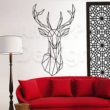 deer home decor art design home decoration cheap vinyl simple line drawing deer