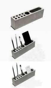 Desktop Pen Holder Phone Holder U0026 Pen Pencil Holder Concrete Desktop Organizer Home