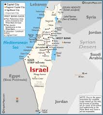 political map of israel for his israel today the about