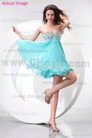 2016 summer aqua light blue short beading sequin bodice chiffon a