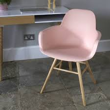 scandinavian blush pink dining chair by ella james