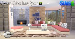 my sims 4 blog modern cube living room set by jomsims