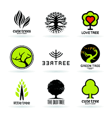 vector trees logos creative design set 04 free millions