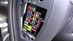 renault clio 2 interior fuse box location youtube