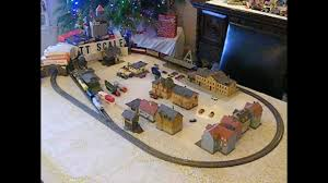 table top train set tt scale classic table top christmas train layout set youtube
