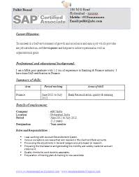 resume format experienced banking professional certifications resume format for experienced banking professional making a