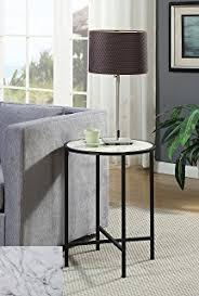convenience concepts gold coast faux marble end table amazon com convenience concepts gold coast faux marble round end