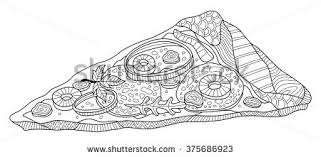 pizza slice coloring page illustration stock vector 375686923