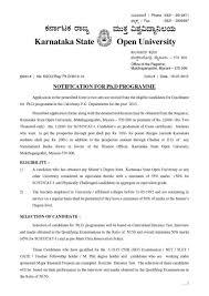 regarding ksou phd program admission entrance guide allotment
