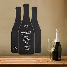 Chalk Board Wall Stickers Wine Bottles Write And Erase Wall Sticker By Sirface Graphics