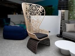 Modern High Back Armchair B U0026b Italia Crinoline Outdoor Armchair By Patricia Urquiola