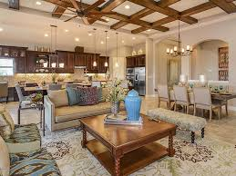 Dining Room Ceiling Fan by Contemporary Great Room With Travertine Tile Floors High Ceiling