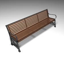 park bench 3d exterior cgtrader