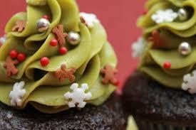matcha christmas tree cupcakes underground culinary lab