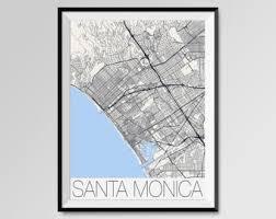 santa california map santa map etsy