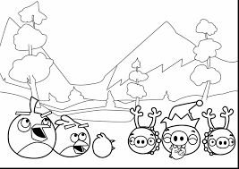 incredible angry birds birthday coloring pages with angry birds