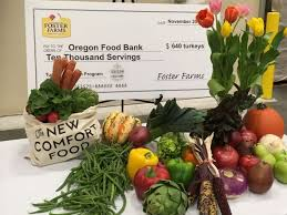 oregon food bank receives 640 turkeys for thanksgiving from foster