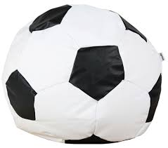 woodlii saccosäck sport fotboll large vit svart bean bag chair