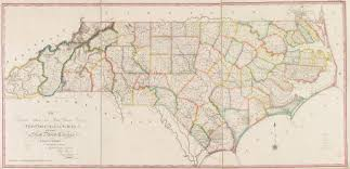 Raleigh Nc Map 1808 Map Of North Carolina Price Strother Map