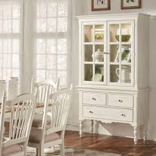 Antique Breakfront China Cabinet by Homesullivan Margot Touch Light Wood China Cabinet In Antique