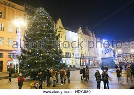 christmas tree lights statue square hong kong stock photo royalty