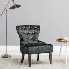 Chair Fabric Rheya Crushed Velvet Wing Back Occasional Accent Bedroom Chair