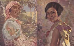 this collection is the work of famous filipino artists fernando amorsolo pablo amorsolo fabian dela rosa and i l miranda all of the 12 paintings and