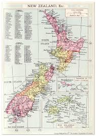 New Zealand Map New Zealand Map 1935 U2013 Philatelic Database