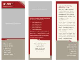 brochure tri fold brochure template for word