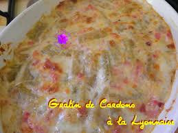 cuisine lyonnaise recettes gratin de cardons à la lyonnaise la table de jean