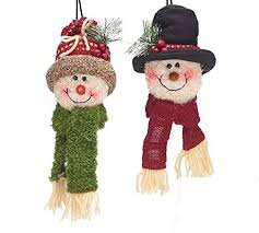 plush snowman ornaments set of 2 burton burton https www