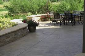 backyard ideas with concrete outdoor furniture design and ideas