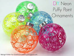 ilovetocreate diy neon paint ornaments