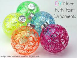 ilovetocreate diy neon paint ornaments