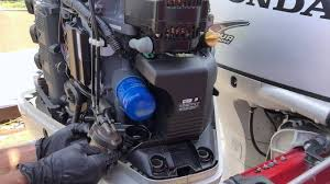 honda 225 outboard replace high low pressure fuel filters and